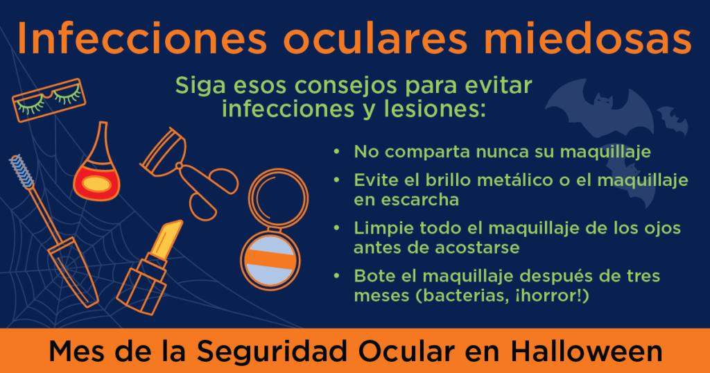 Infecciones oculares por lentes de contacto en halloween